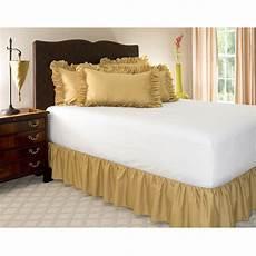 shop bedding ruffled bed skirt xl gold 14 inch