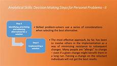Analytical And Problem Solving Skills Analytical Skills Decision Making Steps For Personal