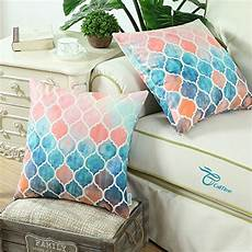 calitime pack of 2 cozy throw pillow cases covers for
