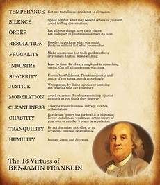 Benjamin Franklin Virtues Chart One Powerful Success Secret From Ben Franklin That Changed