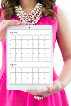 Printable Customized Calendars Custom Editable Free Printable 2019 Calendars Titus