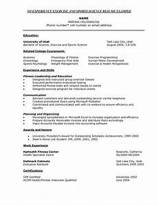 Science Resume Examples Resume Template Exercise Science Kirkwood Community