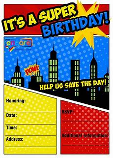 Printable Superhero Invitations Free Superhero Party Invitation Encore Kids Parties