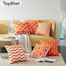 topfinel geometric pattern design decorative throw pillow