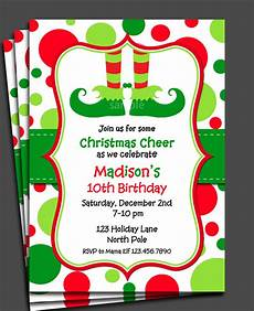Printable Christmas Party Invitations Free Templates Christmas Elf Invitation Printable Or Printed With Free