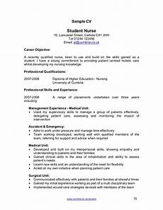 Cv Template For Nurses Nurse Cv Template