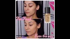 Born This Way Light Beige Review New Too Faced Born This Way Foundation Review Demo Youtube