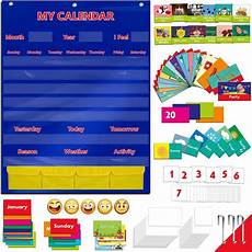 Pocket Chart Cards Calendar And Weather Pocket Chart With 148 Cards 108