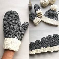 crochet pattern the mittens crochet mittens easy etsy