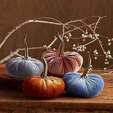 small velvet pumpkins set of 4 includes copper