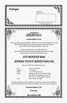contoh undangan doa tahlil contoh isi undangan