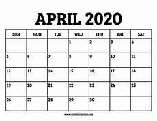 print calendar april 2020 april 2020 calendar printable calendar options