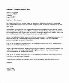 Personal Job Reference Letter Free 7 Sample Personal Reference Letter Templates In Pdf