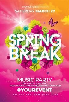 Spring Event Flyer Template Spring Break Psd Flyer Templates Creativeflyers