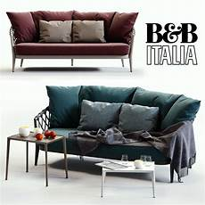 Blue Sofa Set 3d Image by Bb Italia Erica Blue And Sofa 3d Cgtrader
