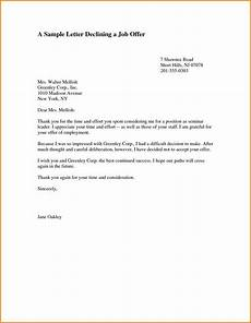 Letter To Turn Down A Job Offer Valid Job Letter Template For Bank You Can Download For