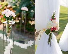 romantic outdoor wedding ceremony decor ivory and pink