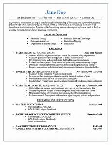 Statistics Major Resume Statistician Resume Example Statistics Experimental Design