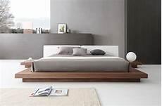 modrest opal modern walnut white platform bed