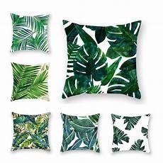 tropical plants pillow polyester decorative