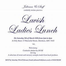Lunch Invitation Message Lavish Ladies Lunch Invite Scottish Pa Network