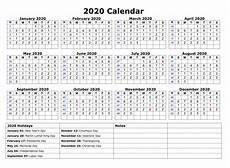 2020 Calendar With Holidays Printable Monthly Calendar 2020 With Holidays Template Example