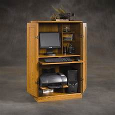 space saver wood computer cabinet armoire desk home office
