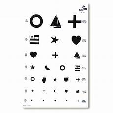 Eye Test Chart For Toddlers Kindergarten Symbol Wall Eye Chart Graham Field Grafco