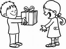 Ausmalbilder Geschenke Geburtstag Ausmalbild Geburtstag M 228 Dchen Bekommt Ein