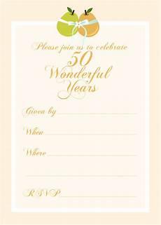 50th Anniversary Template Free 50th Anniversary Wedding Invitation Printables