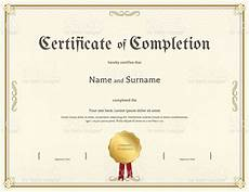 Certification Of Completion Template Certificate Of Completion Template In Vintage Theme Stock