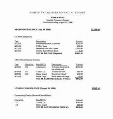 Treasurer Report 18 Treasurer Report Templates Pdf Word Free