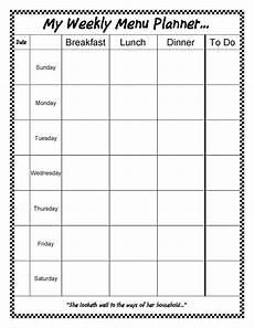 Weekly Menu Planning Template Thm Friendly Editable Menu Planner 15 Styles Free