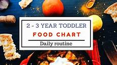 2 Year Old Food Chart Food Chart Amp Daily Routine For 2 3 Year Toddler