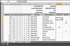 Example Bom Bom Spreadsheet Archives Grabcad Blog