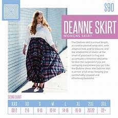 Sizing Chart For The Lularoe Deanne Skirt This Full Wrap