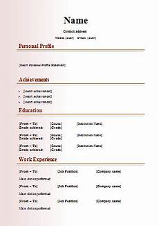 Blank Cv Format Download Image Result For Cv Format Free Download Resume Template
