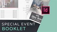 Event Program Booklet Template Let S Create An Event Program Booklet In Indesign Youtube