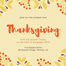 thanksgiving cards word template customize 93 thanksgiving invitation templates canva