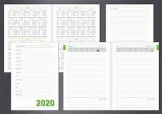 Daily Planner 2020 Datebook 2020 Diary Daily Planner Stationery Templates