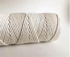 3 strand macrame rope fiber cord 100 cotton rmc