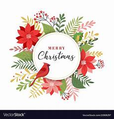 Merry Christmas Greeting Card Design Merry Christmas Greeting Card In Elegant Modern Vector Image