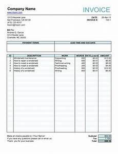 Free Fillable Invoice Free Invoice Templates Simple Ready To Use Invoice