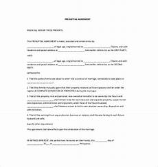 Prenuptial Agreement Templates Prenuptial Agreement Template 10 Free Word Pdf