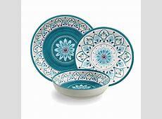 TarHong Moroccan Medallion Melamine 12 Piece Dinnerware