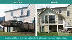 before and after home additions project photos
