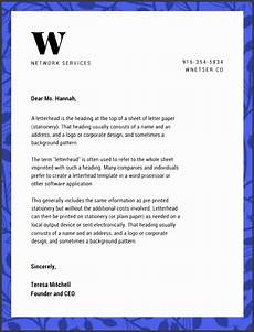 Letter Head For Resume 9 Headed Note Paper Template Sampletemplatess