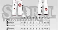 Gracie Barra Gi Size Chart Gracie Barra Wear Size Chart Jiu Jitsu Pinterest