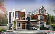 4 Bhk House Design Plans 2848 Square Feet 4 Bhk Mixed Roof Beautiful House Plan