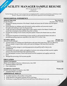 Facilities Manager Resume Facility Manager Resume Resumecompanion Com Resume